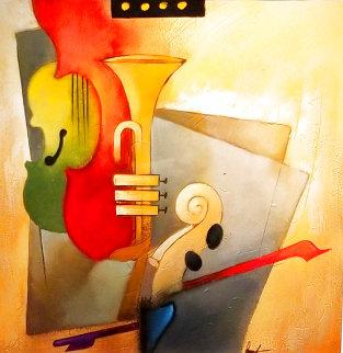 Symphony 2003 38x38 Huge Original Painting - Emanuel Mattini