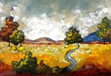 Untitled Painting 54x43 Huge Original Painting - Emanuel Mattini