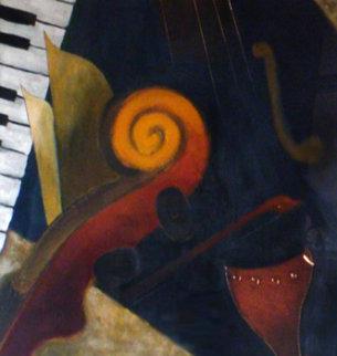 Symphony II 1999 49x49 Original Painting - Emanuel Mattini