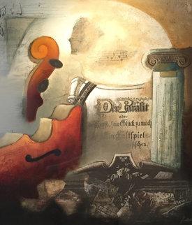 Symphony V 1999 34x34 Original Painting - Emanuel Mattini