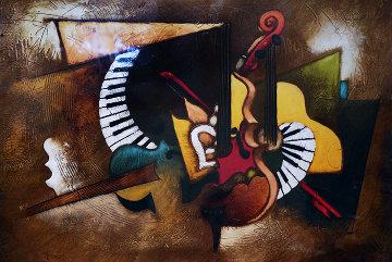 Untitled 57x43 Original Painting - Emanuel Mattini