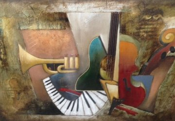 Orchestration Embellished 46x60 Limited Edition Print by Emanuel Mattini