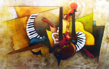 Orchestration 34x48 Works on Paper (not prints) - Emanuel Mattini