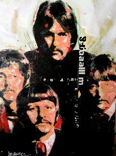 Beatles #1 1980 Embellished Limited Edition Print - Sid Maurer