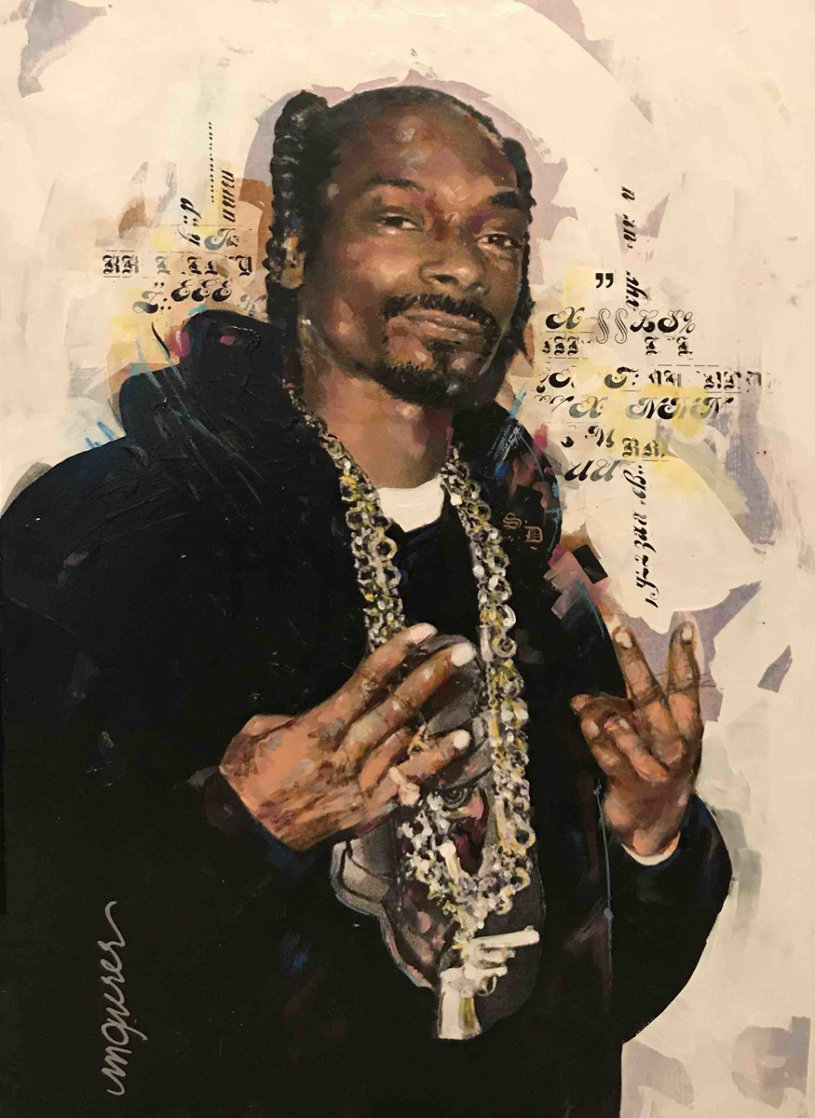 Snoop Dog 35x27 Original Painting by Sid Maurer