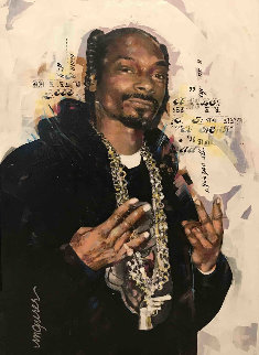 Snoop Dog 35x27 Original Painting - Sid Maurer