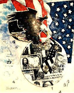 American Dream 41x34 Huge Original Painting - Sid Maurer
