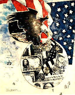 American Dream 41x34 Super Huge Original Painting - Sid Maurer