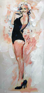 Marilyn Monroe Black Swimsuit Limited Edition Print by Sid Maurer
