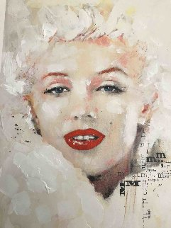Marilyn Monroe Pearl Unique 19x13 Original Painting - Sid Maurer