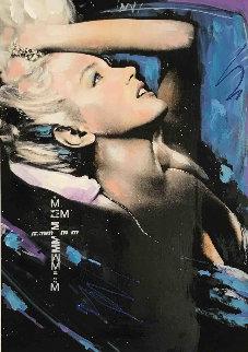 Marilyn Monroe Fantasy Unique 19x13 Original Painting - Sid Maurer