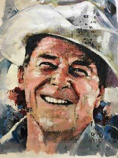 Ronald Reagan 40x30 Original Painting by Sid Maurer