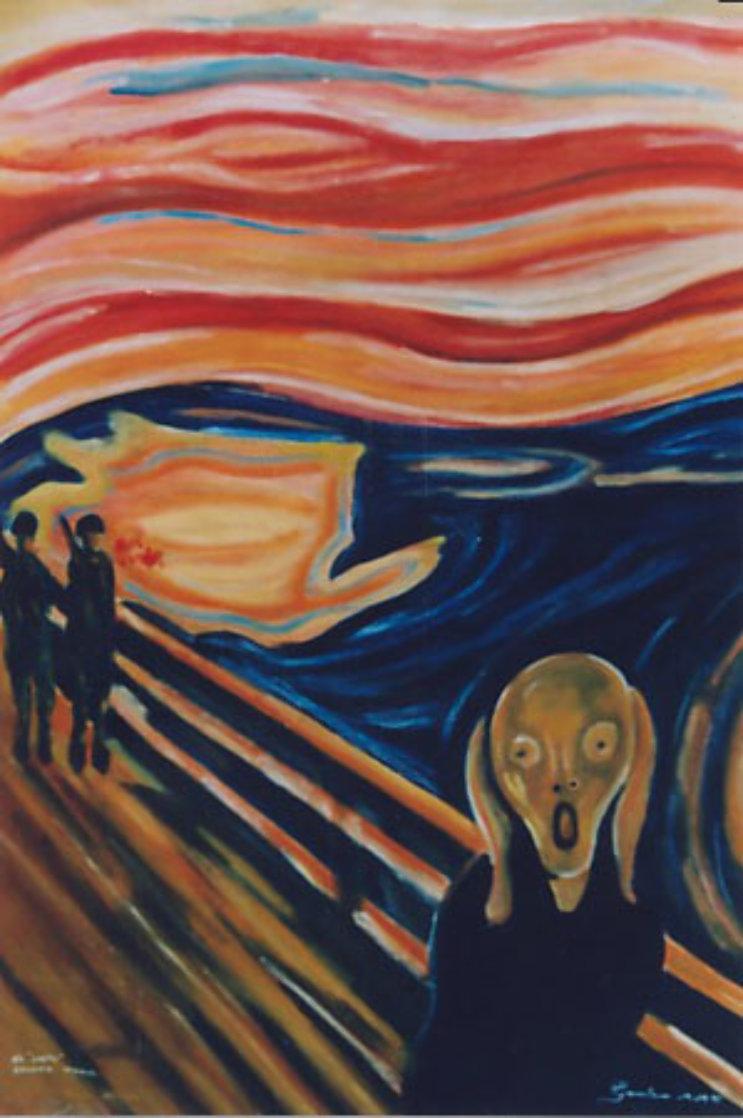 Guatemalan Scream (Munch) The Scream 2004 Original Painting by Mauro Garcia