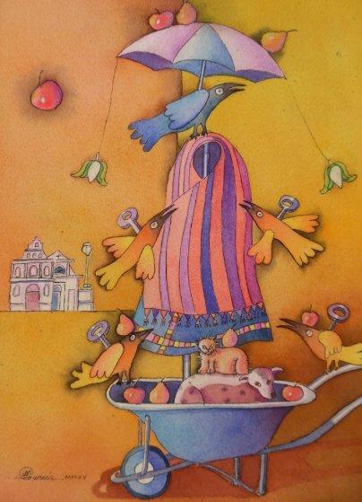 Xelaju Watercolor 2015 10x15 Watercolor by Mauro Garcia