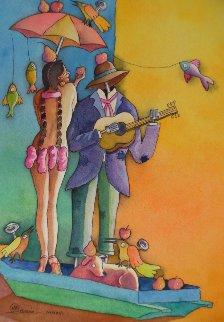 Tentacion Watercolor 2015 15x10 Watercolor by Mauro Garcia