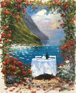 A Taste of the Riviera 2009 32x28 Original Painting - Marko Mavrovich