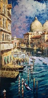Morning on the Canal Embellished 2005 Limited Edition Print - Marko Mavrovich