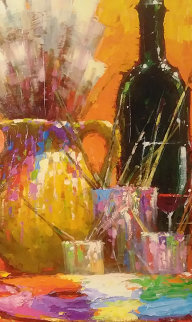 Brushes And Wine 2015 Embellished Limited Edition Print by Marko Mavrovich