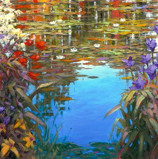 Giverny Spring 2015 Embellished Limited Edition Print by Marko Mavrovich