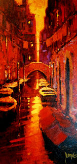 Sunset Canal 2005 Embellished Limited Edition Print by Marko Mavrovich