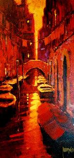 Sunset Canal 2005 Embellished Limited Edition Print - Marko Mavrovich