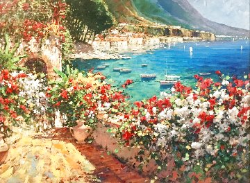A Day of Sun on the Riveria Embellished 2005  Limited Edition Print - Marko Mavrovich