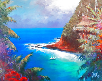 Shore Party 2013 30x36 Original Painting - Marko Mavrovich