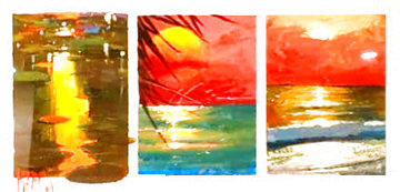 Season's 2012, Set of 3 Paintings 21x31 Works on Paper (not prints) - Marko Mavrovich