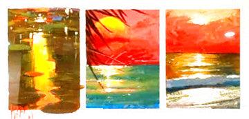 Season's 2012, Set of 3 Paintings 21x31 Works on Paper (not prints) - Marko Mavrovich