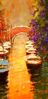 Sunshine in the Canal 2007 Embellished Limited Edition Print - Marko Mavrovich