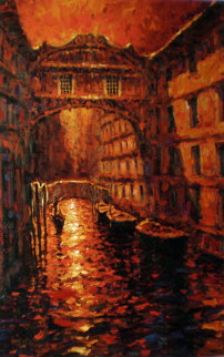 Silent Canal 2005 Embellished Limited Edition Print by Marko Mavrovich