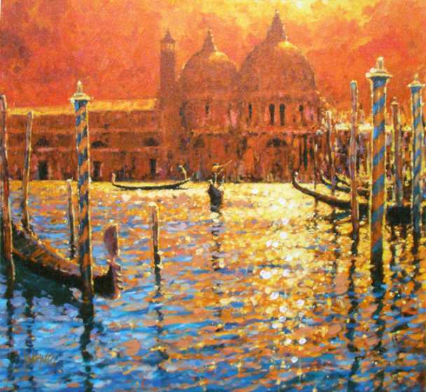 Golden Afternoon Embellished Limited Edition Print by Marko Mavrovich