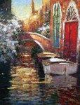 Silent Canal 2005 AP Embellished Limited Edition Print - Marko Mavrovich