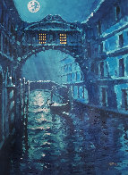 Blue Moon Over Venice Embellished AP 2006 Limited Edition Print by Marko Mavrovich - 0
