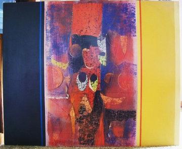 Untitled Painting 1971 36x45 Super Huge Original Painting - Paul Maxwell