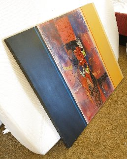 Untitled Painting 1971 36x45 Original Painting - Paul Maxwell