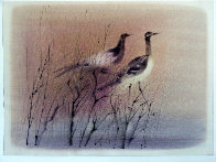Untitled Birds 1966 21x28 Original Painting by Paul Maxwell - 1