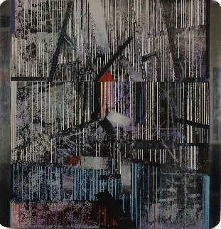 North Site 1984 36x31 Original Painting by Paul Maxwell