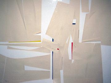 White 1963 59x47 Super Huge Original Painting - Paul Maxwell