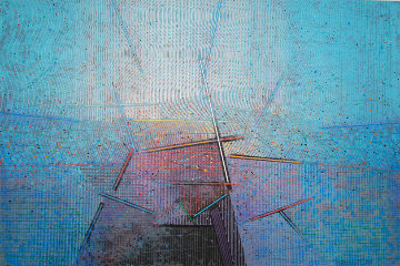 Vista 1989 48x72 Huge Original Painting - Paul Maxwell