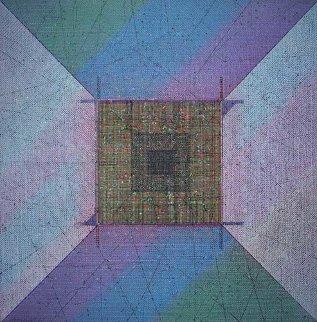 Pyramid 1987 36x36 Original Painting - Paul Maxwell