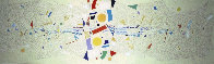 Untitled 1966 Mural on wood 180x48 - Super Huge Original Painting by Paul Maxwell - 0