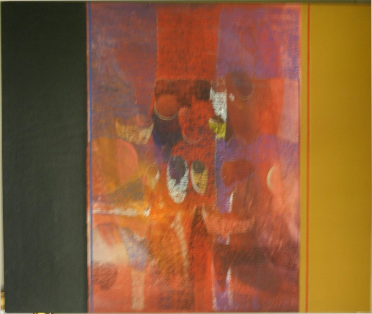Untitled Painting 1971 36x45 Super Huge Original Painting by Paul Maxwell
