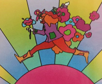 Jumping Man Limited Edition Print - Peter Max