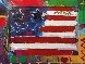 American Flag With Heart 1990 35x28 Works on Paper (not prints) by Peter Max - 0