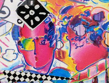 Zero in Love Unique 1990 13x13 Original Painting by Peter Max