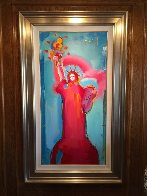 Statue of Liberty Unique 2006 36x60 Original Painting by Peter Max - 1