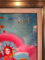 Statue of Liberty Unique 2006 36x60 Original Painting by Peter Max - 3