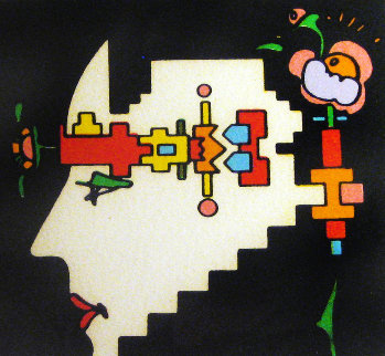 Geometric Man 1973 Limited Edition Print by Peter Max