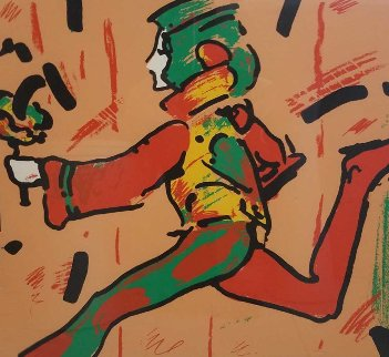 Runner in Brown 1979 (Vintage) Limited Edition Print - Peter Max